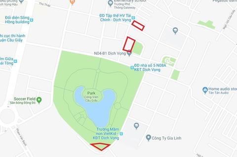 Map mo viec xin y kien dan xen dat cong vien Cau Giay lam bai do xe hinh anh 5