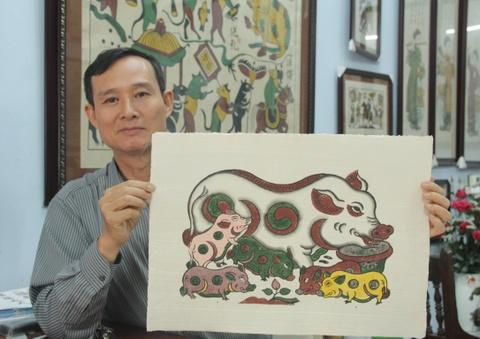 Tranh Dong Ho 'ga, lon net tuoi trong' giua cuoc chien vang ma hinh anh 2