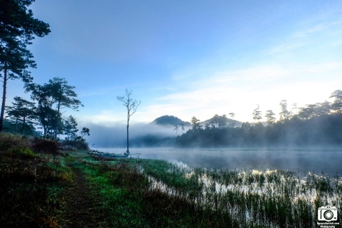 Ve me hoac cua ho Tuyen Lam sang som mua dong hinh anh 4 Cảnh đẹp của hồ Tuyền Lâm vào sáng sớm.