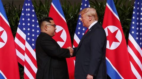 Dam phan hat nhan be tac, TT Trump het lac quan ve Trieu Tien hinh anh 1