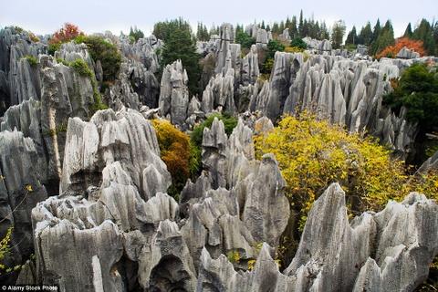 Canh dep than tien cua Trung Quoc tren bao Anh hinh anh 12 Dãy núi đá vôi ở Thạch Lâm, Côn Minh, Vân Nam, Trung Quốc.