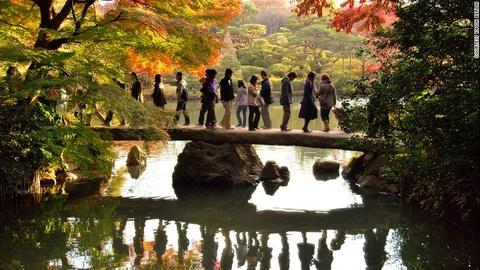 Nhung diem ngam canh mua thu dep nhat Tokyo hinh anh 2 Vườn Rikugien: Đây là một trong những điểm đẹp nhất vào mua thu ở Tokyo. Nơi lý tưởng để ngắm cảnh là trên cầu Togetsukyo, phía tây bắc khu vườn.