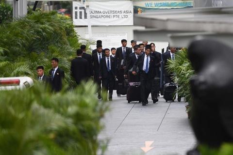 Doan xe cho ong Kim Jong Un ve khach san o Singapore hinh anh 9