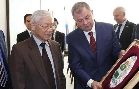 Roi Moscow, Tong bi thu Nguyen Phu Trong den tham tinh Kaluga hinh anh