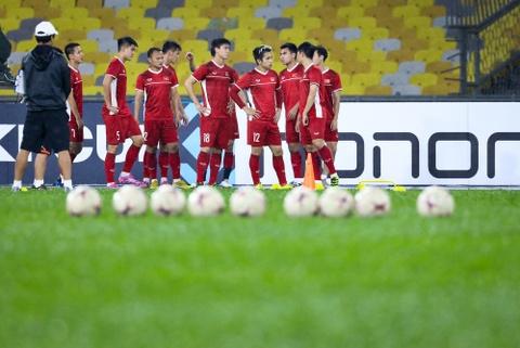 Tuyen Viet Nam dam mua tap luyen truoc chung ket AFF Cup voi Malaysia hinh anh 1