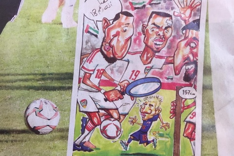 Bao UAE che gieu 'Messi Thai Lan': Ga so 18 chi cao 1,57 m hinh anh