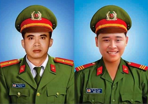 Cap bang To quoc ghi cong cho 2 cong an hy sinh anh 1