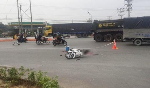 Người dân chặn xe đầu kéo container bỏ chạy sau tai nạn chết người