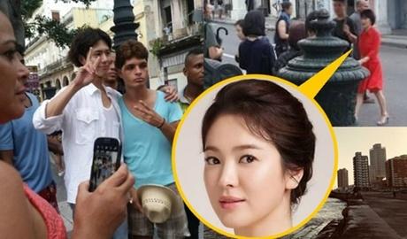 Song Hye Kyo va ban dien kem 12 tuoi quay phim o Cuba hinh anh