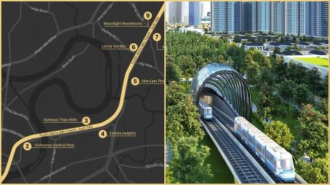 Diem danh du an sap ban giao doc tuyen metro Ben Thanh - Suoi Tien hinh anh