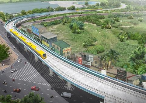 Toan canh tuyen metro Nhon - ga Ha Noi hinh anh