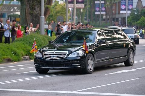 Mercedes-Benz S 600 Pullman Guard boc thep ho tong Kim Jong Un ve HN hinh anh 3