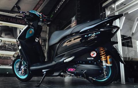 Honda Lead phien ban 'vua ninja' cua biker Ca Mau ton them 100 trieu hinh anh 10
