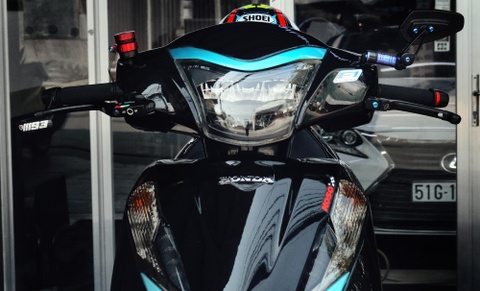 Honda Lead phien ban 'vua ninja' cua biker Ca Mau ton them 100 trieu hinh anh 4