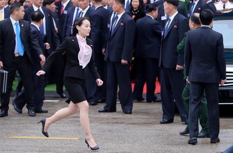 Em gai lanh dao Kim Jong Un noi bat trong chuyen tham tai Ha Noi hinh anh 8