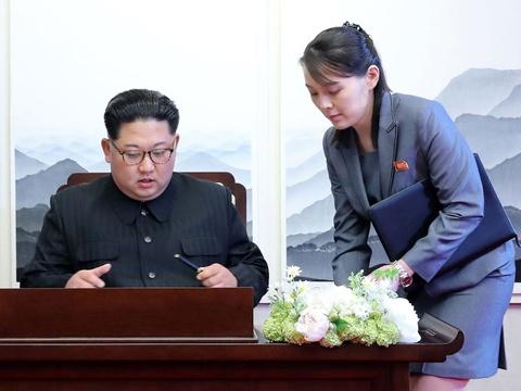 Em gai lanh dao Kim Jong Un noi bat trong chuyen tham tai Ha Noi hinh anh 10