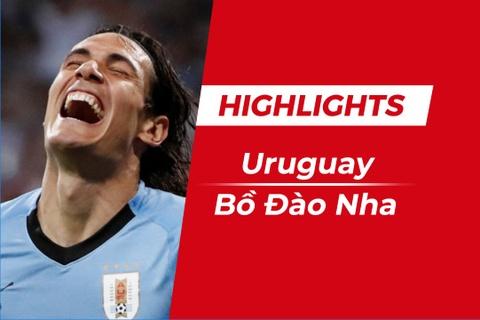 Highlights Uruguay 2-1 Bo Dao Nha: Suarez va Cavani phoi hop ghi ban hinh anh
