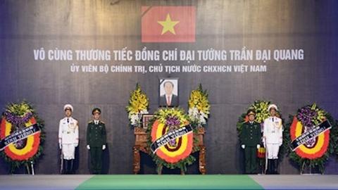 Truc tiep Le an tang Chu tich nuoc Tran Dai Quang hinh anh
