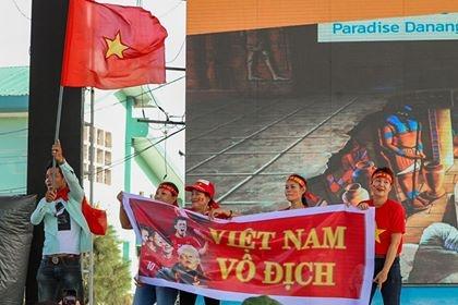 Khong khi co vu tuyen Viet Nam tai Da Nang dang nong dan hinh anh