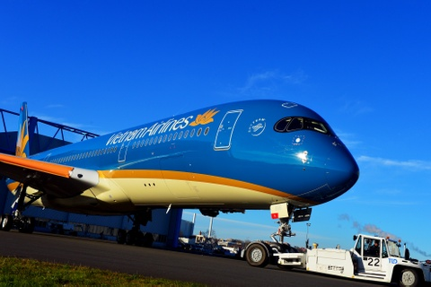Dien mao moi may bay hien dai nhat cua Vietnam Airlines hinh anh