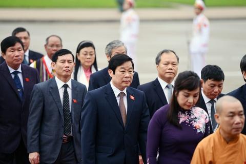Lanh dao Dang, Nha nuoc vieng lang Chu tich Ho Chi Minh hinh anh 8