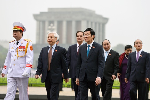 Lanh dao Dang, Nha nuoc vieng lang Chu tich Ho Chi Minh hinh anh 9