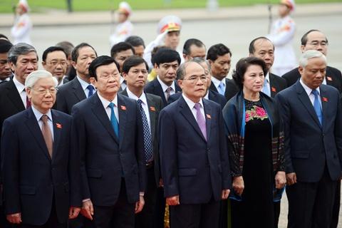 Lanh dao Dang, Nha nuoc vieng lang Chu tich Ho Chi Minh hinh anh 7