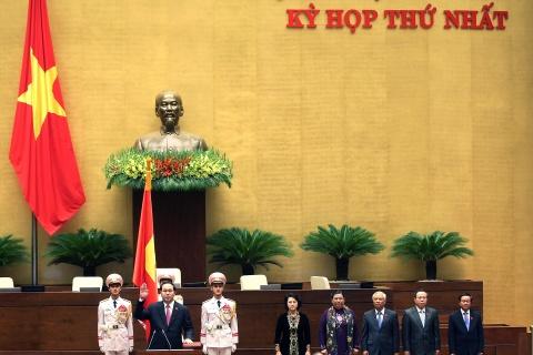 Dai bieu chuc mung Chu tich nuoc Tran Dai Quang tai dac cu hinh anh 1