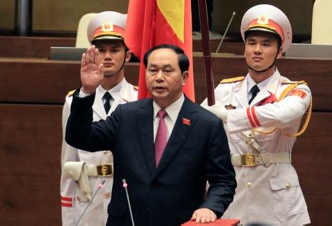 Dai bieu chuc mung Chu tich nuoc Tran Dai Quang tai dac cu hinh anh 2
