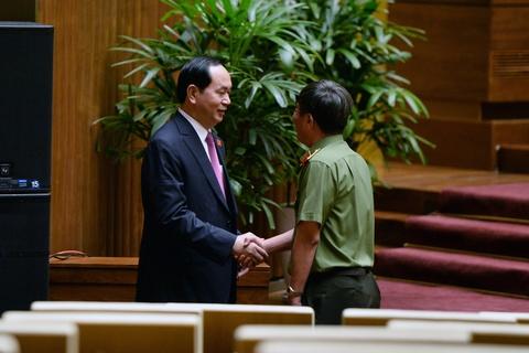 Dai bieu chuc mung Chu tich nuoc Tran Dai Quang tai dac cu hinh anh 8