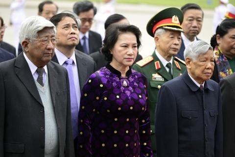 Lanh dao Dang, Nha nuoc vieng Chu tich Ho Chi Minh hinh anh 7