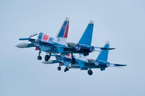 Dan tiem kich Su-30SM cua Nga cat canh dep mat tren bau troi Ha Noi hinh anh 6