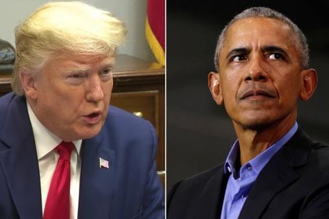 Tong thong Trump doi mat voi ong Obama o que nha cua ong Biden hinh anh