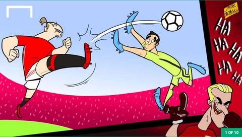 Hi hoa Ronaldo nguoc nhin Messi cuoi cho khong lo hinh anh 1