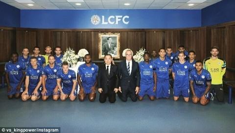 Leicester quy goi tuong niem nha vua Thai Lan hinh anh