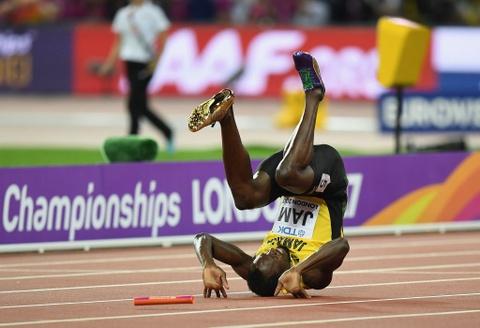 Usain Bolt chan thuong trong ngay chia tay su nghiep hinh anh