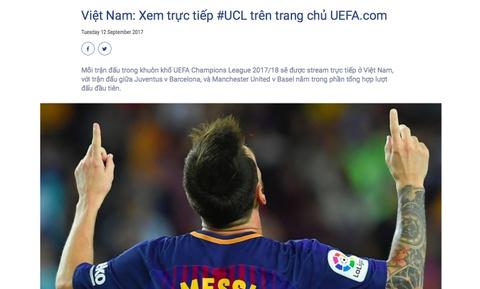 NHM Viet Nam duoc xem truc tiep Champions League tren website UEFA hinh anh