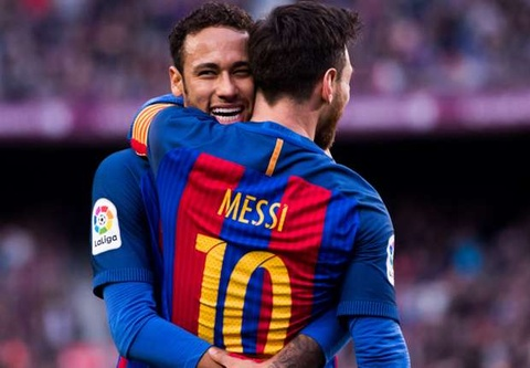 Messi nhuong phat den cho Neymar thang 2/2015 hinh anh