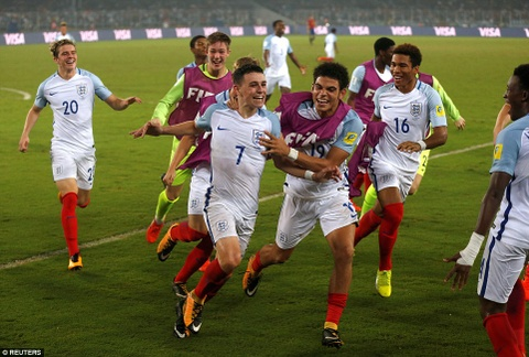 Vui dap Tay Ban Nha 5-2, tuyen Anh vo dich U17 the gioi hinh anh 8