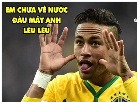 Anh che Neymar vui mung khi khong ra san bay cung Messi, Ronaldo hinh anh