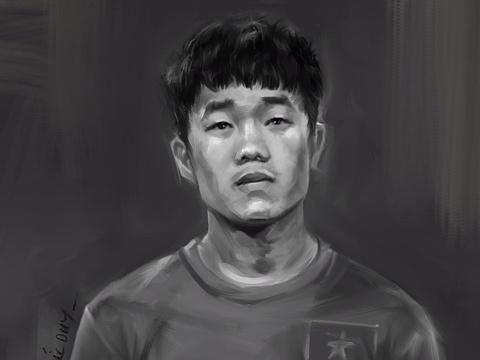 HLV Park Hang-seo va cau thu U23 Viet Nam trong the nao qua tranh 2D? hinh anh