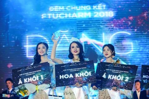 Hoa khoi DH Ngoai thuong tung nang 90 kg thi Hoa hau Viet Nam 2018 hinh anh 1