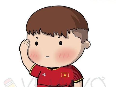Tranh vui Cong Phuong om Duc Huy an mung, Tien Dung chao kieu bo doi hinh anh