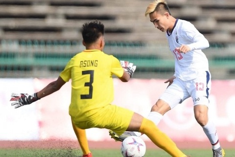 Highlights: U22 Philippines 0-3 U22 Thai Lan hinh anh