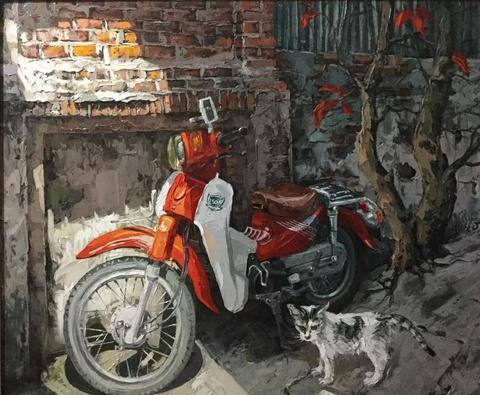 Bức tranh phố nhỏ Hà Nội bình dị qua trái tim yêu của người họa sĩ