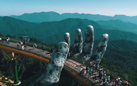Cầu Vàng Đà Nẵng đứng đầu bảng xếp hạng của Time
