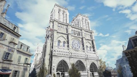 Co mot Nha tho Duc Ba nguyen ven trong game Assassin's Creed Unity hinh anh 2