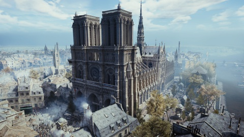 Co mot Nha tho Duc Ba nguyen ven trong game Assassin's Creed Unity hinh anh 9