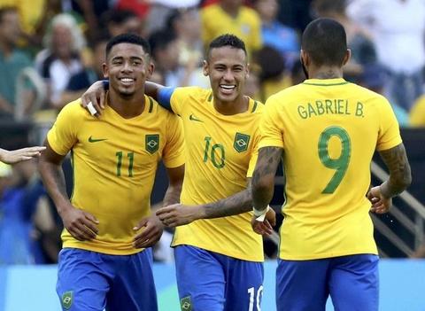 U23 Brazil gianh ve vao chung ket bang chien thang 6 sao hinh anh