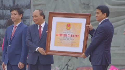 Thu tuong trao Bang xep hang Di tich quoc gia dac biet go Dong Da hinh anh